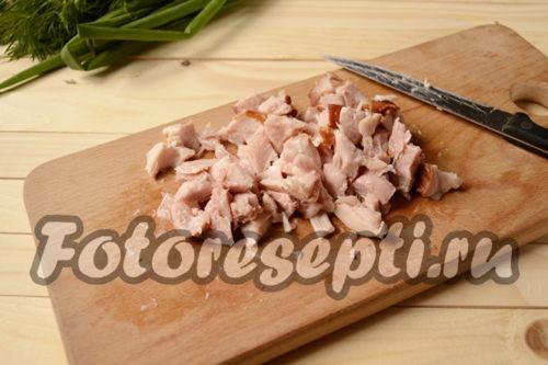 курицу нарезать кусочками