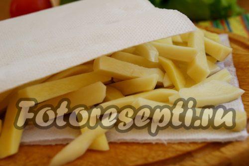 картофель обсушить
