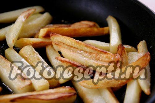 картофель посолить