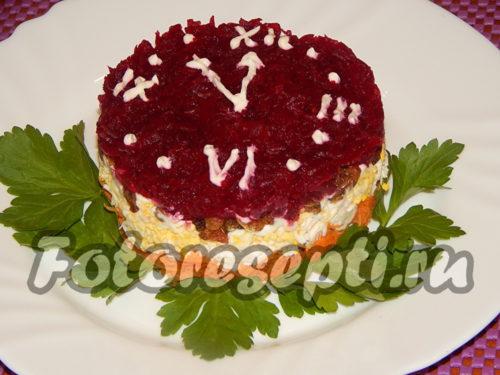 украшаем салат петрушкой