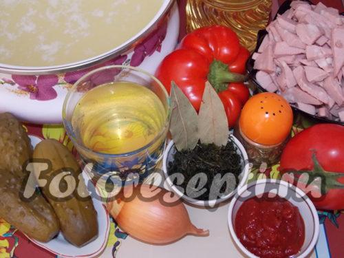 Ингредиенты для солянки