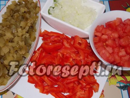 Подготовка овощей