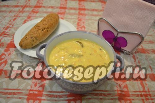 сырный суп готов
