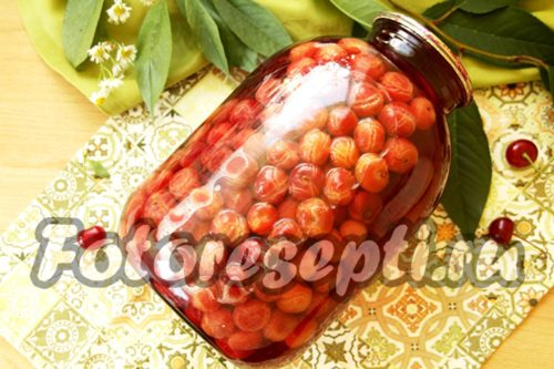 баночка компота из вишни