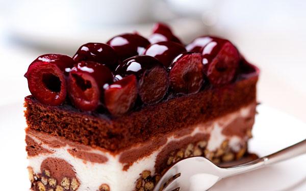 Вишневый десерт к Новому году
