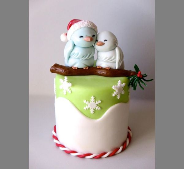 Торт с новогодними зверятами