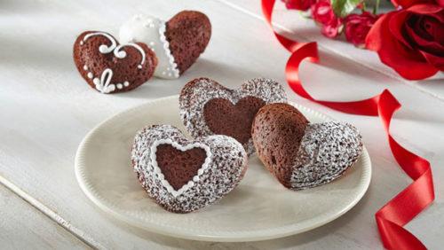 Шоколадные сердца из хрустящего теста