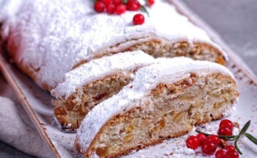 Рождественский кекс из Германии — штоллен творожный