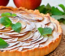 Рождественский пирог с творогом и яблоками