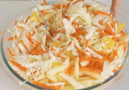 Диетический салат с апельсинами